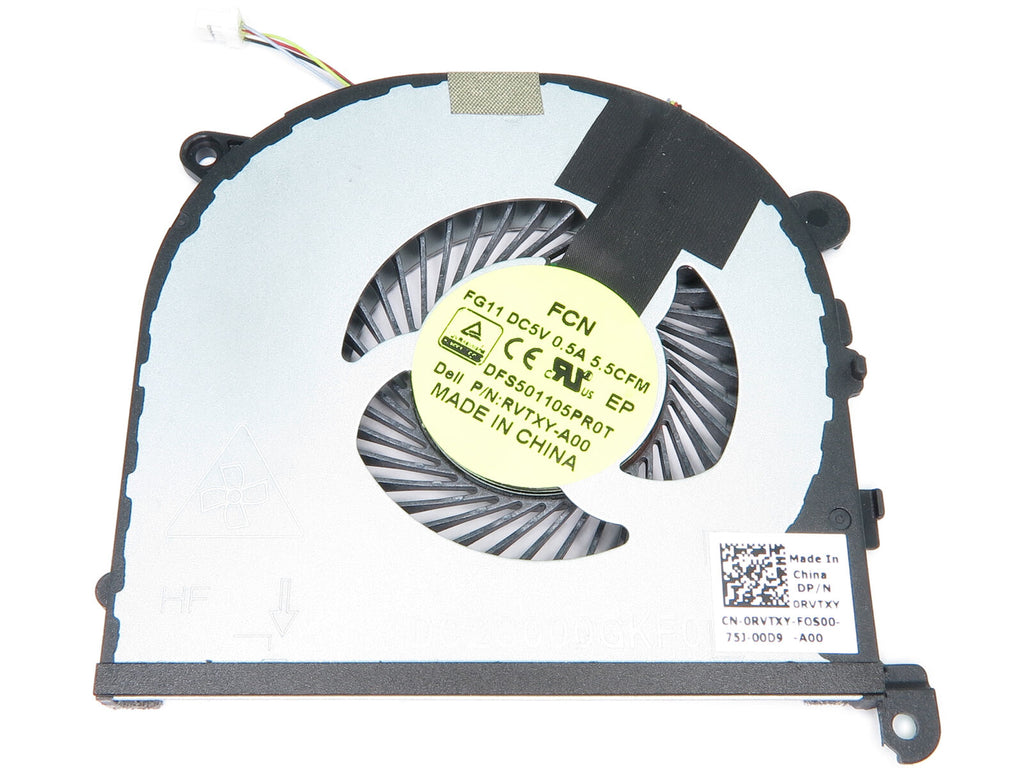 New Dell Precision 15 5510 XPS 15 9550 Left-Side CPU Cooling Fan RVTXY