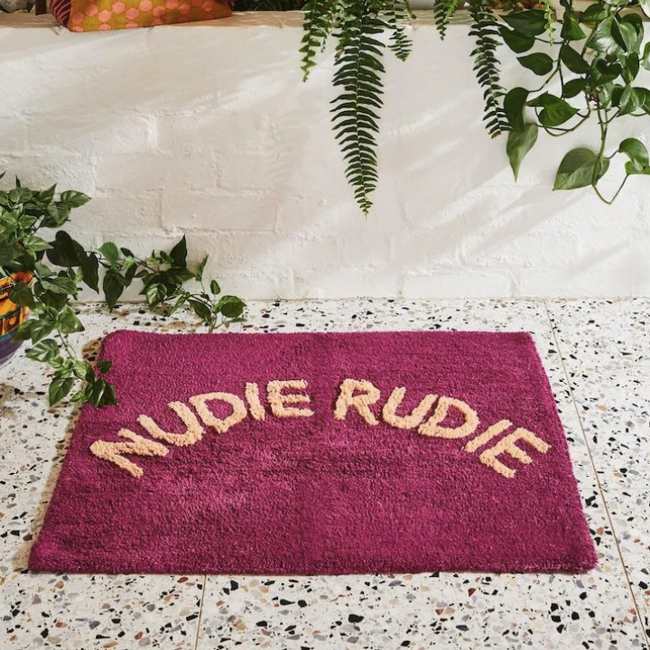 SAGE & CLARE TULA NUDIE BATH MAT: BOYSENBERRY