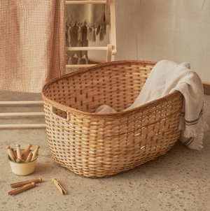 OLLI ELLA TUSCAN LAUNDRY BASKET: MEDIUM