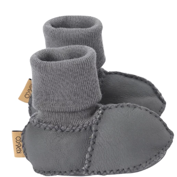 KIP & CO BABY BOOTS: DARK GREY