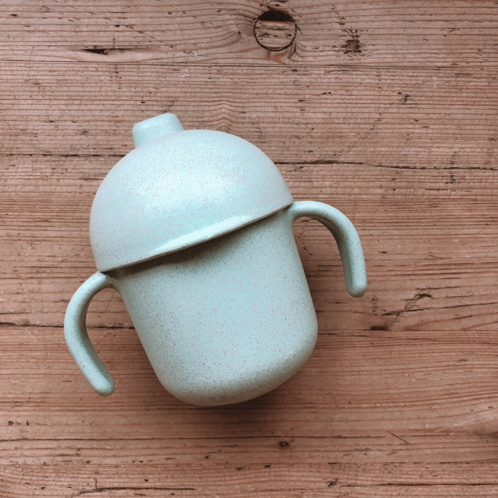 L+L WHEAT SIPPY CUP: SEAFOAM