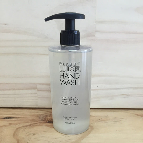 PLANET LUXE HAND WASH LEMON MYRTLE 500ML (CLEAR)