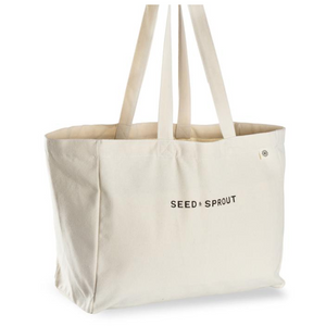 SEED & SPROUT POCKET TOTE SHOPPING BAG