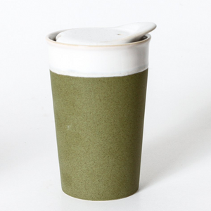 INDIGO LOVE IT'S A KEEPER CERAMIC CUP: SPROUT GREEN