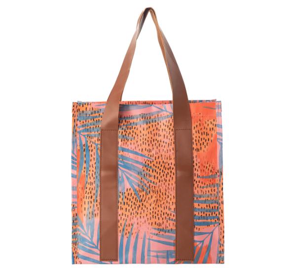 KOLLAB MARKET BAG: BLUE PALM