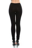 Black Vocal New Studded and Mesh Mineral Wash Leggings