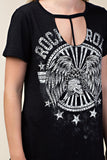 Black Rock n Roll Eagle Top