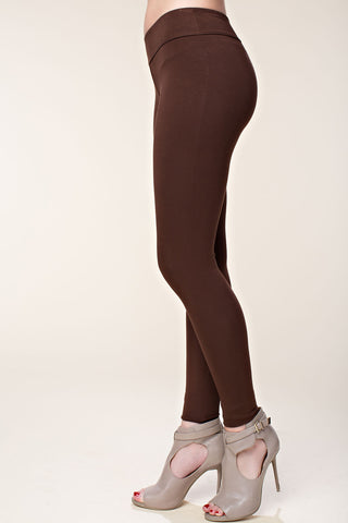 vocal leggings plain brown