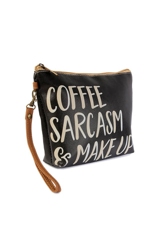 Coffee Mascara Sarcasm Makeup Bag