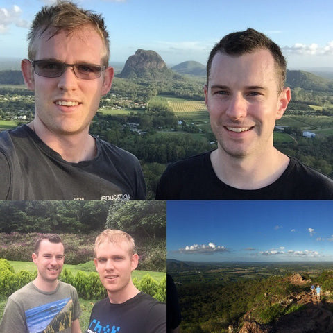 Matthew and Adam on a recent trip on the sunshine coast.