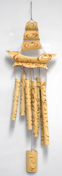 Bamboo 8 Tube Ship Wind Chime