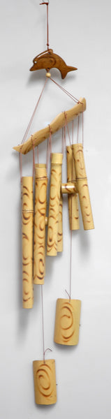 Bamboo 8 Tube Dolphin WInd Chime