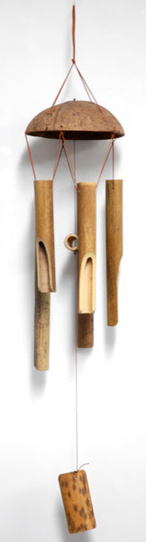 Bamboo 5 Tube Wind Chime (Round Top)