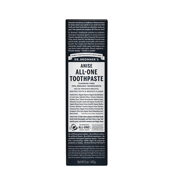 Dr. Bronner's Toothpaste Anise 140g