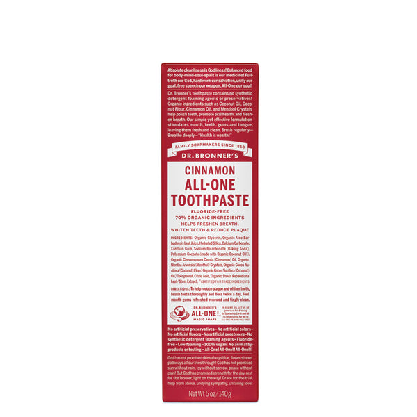 Dr. Bronner's Toothpaste Cinnamon 140g