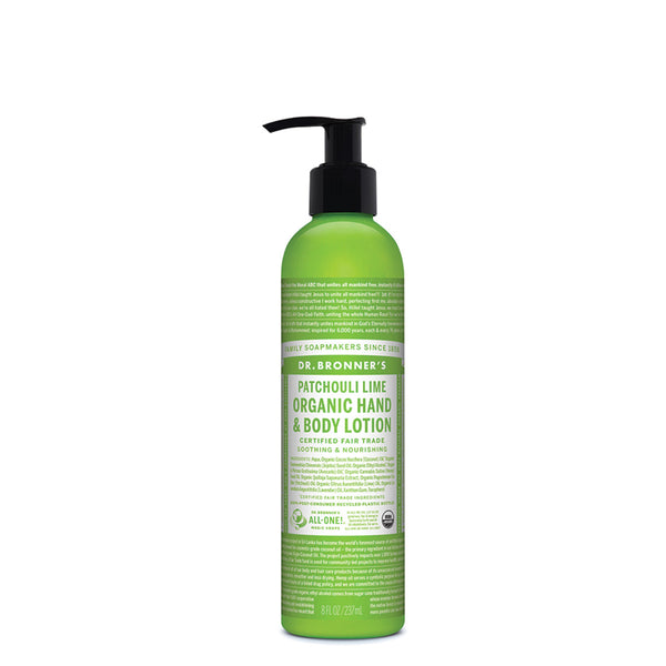 Dr. Bronner's Organic Hand & Body Lotion Patchouli Lime 237ml