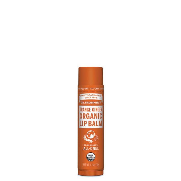 Dr. Bronner's Organic Lip Balm Orange Ginger 4g