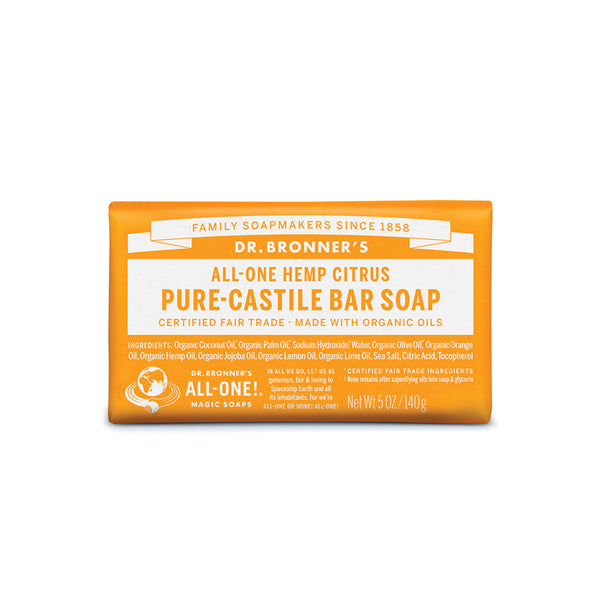 Dr. Bronner's Pure-Castile Bar Soap (Hemp All-One) Citrus 140g