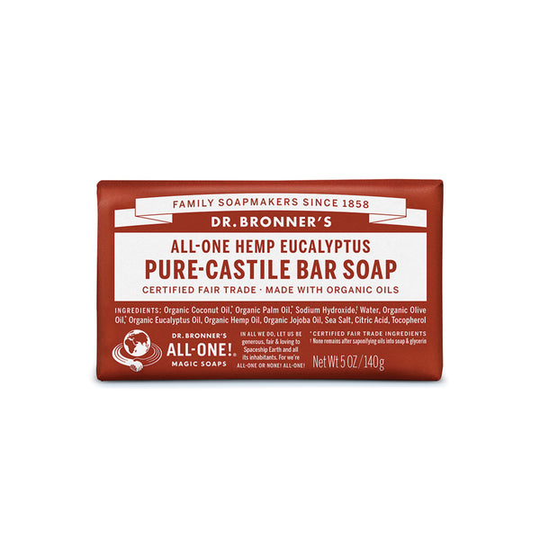 Dr. Bronner's Pure-Castile Bar Soap (Hemp All-One) Eucalyptus 140g