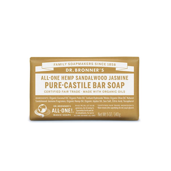 Dr. Bronner's Pure-Castile Bar Soap (Hemp All-One) Sandalwood Jasmine 140g