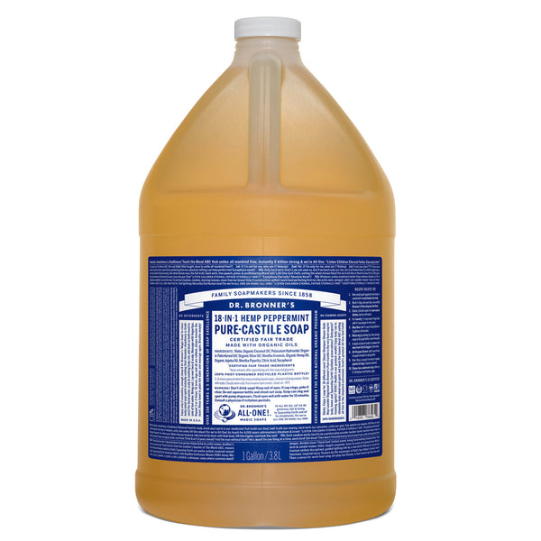 Dr. Bronner's Pure-Castile Soap Liquid (Hemp 18-in-1) Peppermint 3.78L