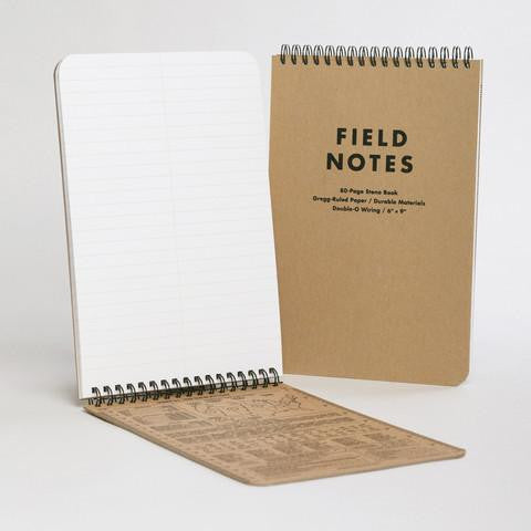 FIELD NOTES Steno Book - Natural Kraft - Ruled