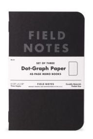 "FIELD NOTES® ""Pitch Black"" - Ruled - Set of 3 Memo Books"