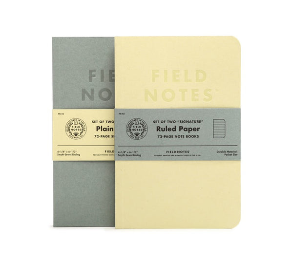 FIELD NOTES® Signature Sketch Books - Plain - Set of 2 Large Note Books