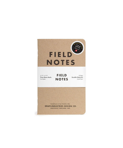 FIELD NOTES® Tenth Anniversary Edition - Set of 3 Memo Books