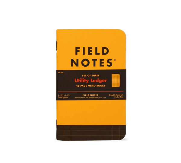 FIELD NOTES Spring 2017 Quarterly Edition - Utility Ledger - Set of 3 Memo Books