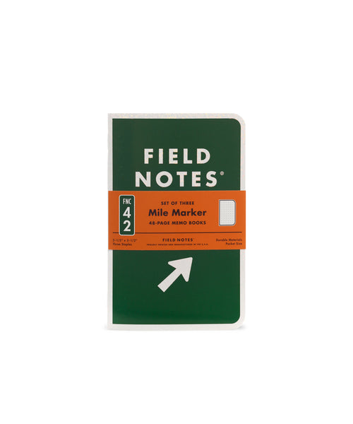 FIELD NOTES Spring 2019 Quarterly Edition - Mile Marker - Dot Graph - Set of 3 Memo Books