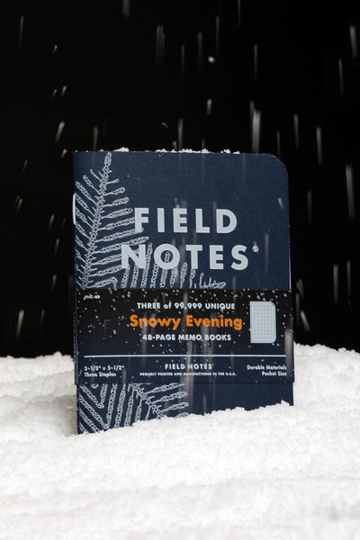 FIELD NOTES 2020 Quarterly Edition - Snowy Evening - Set of 3 Flake-Grid Memo Books