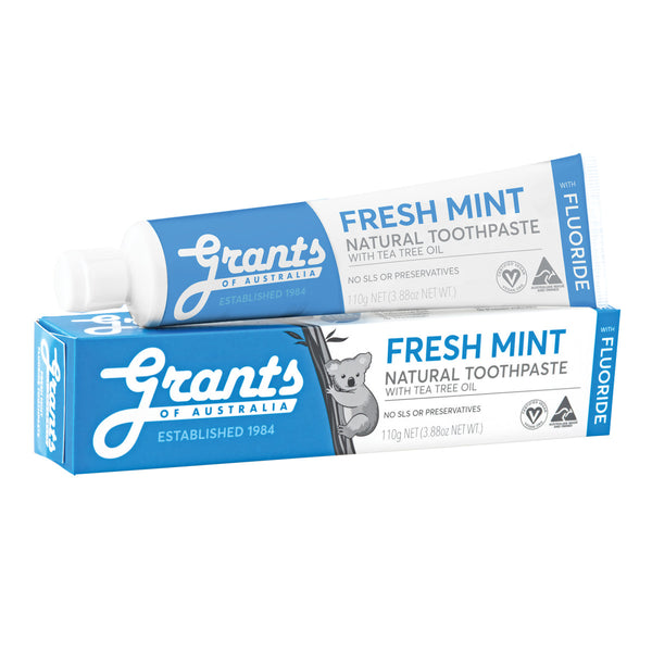 Grants Natural Toothpaste Fresh Mint with Tea Tree Oil & Fluoride 110g