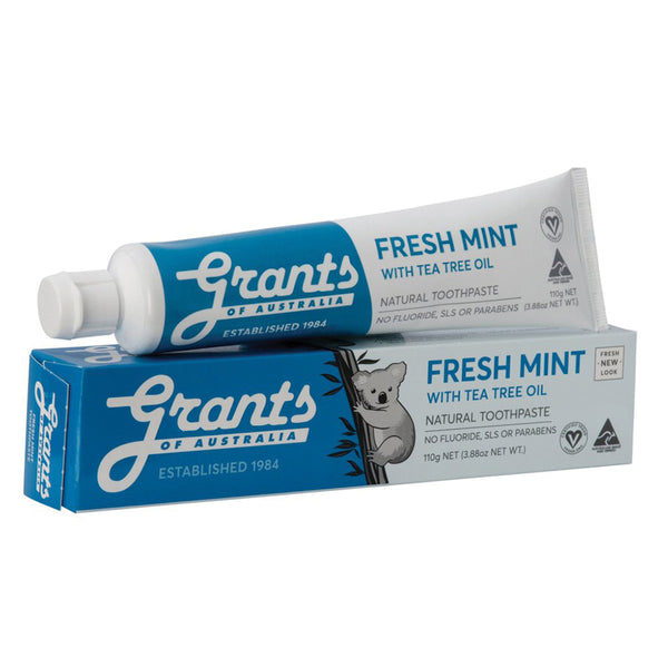 Grants Natural Toothpaste Fresh Mint with Tea Tree Oil (Fluoride Free) 110g