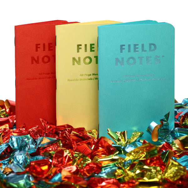 FIELD NOTES 2016 Quarterly Edition - Sweet Tooth - Plain Pages - Set of 3 Memo Books