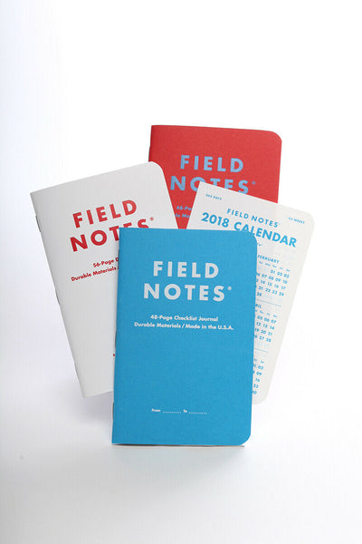 FIELD NOTES Winter 2017 Quarterly Edition - Resolution - Set of 3 Memo Books