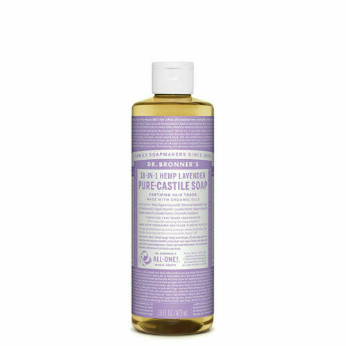 Dr. Bronner's Pure-Castile Soap Liquid (Hemp 18-in-1) Lavender 473ml