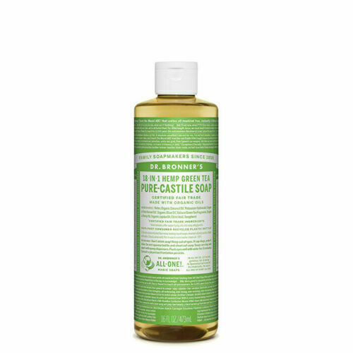 Dr. Bronner's Pure-Castile Soap Liquid (Hemp 18-in-1) Green Tea 473ml