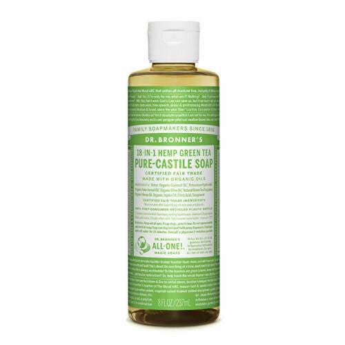 Dr. Bronner's Pure-Castile Soap Liquid (Hemp 18-in-1) Green Tea 237ml