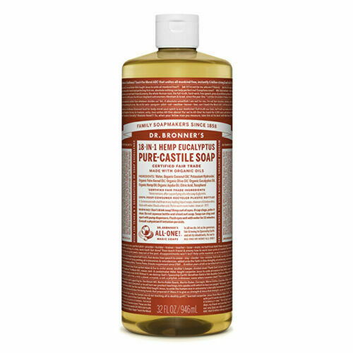 Dr. Bronner's Pure-Castile Soap Liquid (Hemp 18-in-1) Eucalyptus 946ml