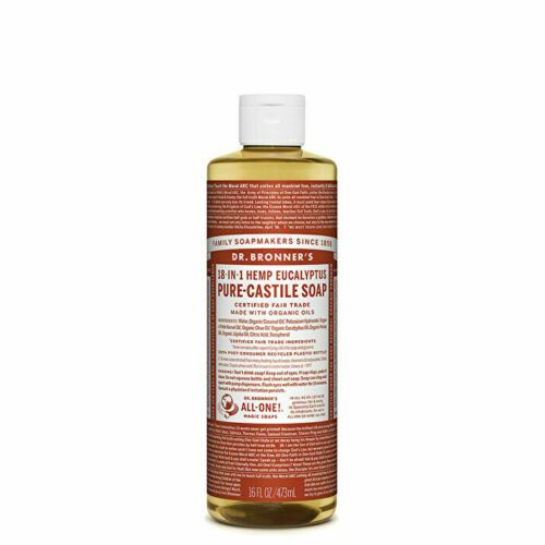 Dr. Bronner's Pure-Castile Soap Liquid (Hemp 18-in-1) Eucalyptus 473ml