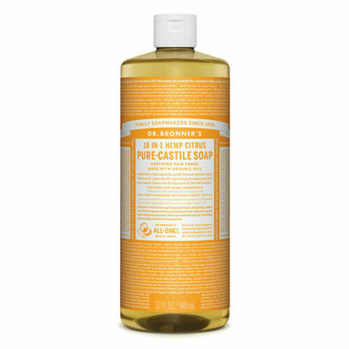 Dr. Bronner's Pure-Castile Soap Liquid (Hemp 18-in-1) Citrus 946ml