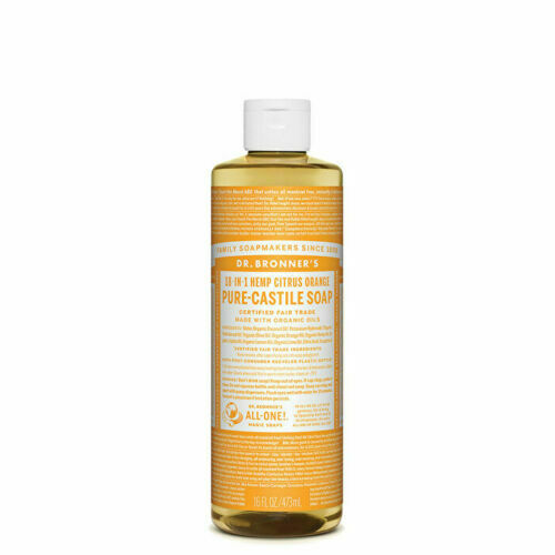 Dr. Bronner's Pure-Castile Soap Liquid (Hemp 18-in-1) Citrus 473ml