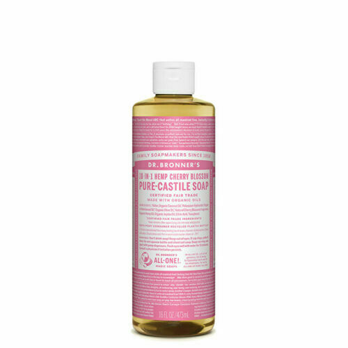 Dr. Bronner's Pure-Castile Soap Liquid (Hemp 18-in-1) Cherry Blossom 473ml