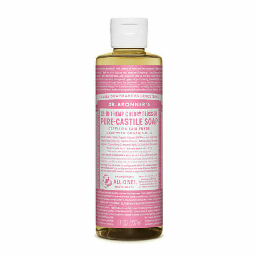 Dr. Bronner's Pure-Castile Soap Liquid (Hemp 18-in-1) Cherry Blossom 237ml