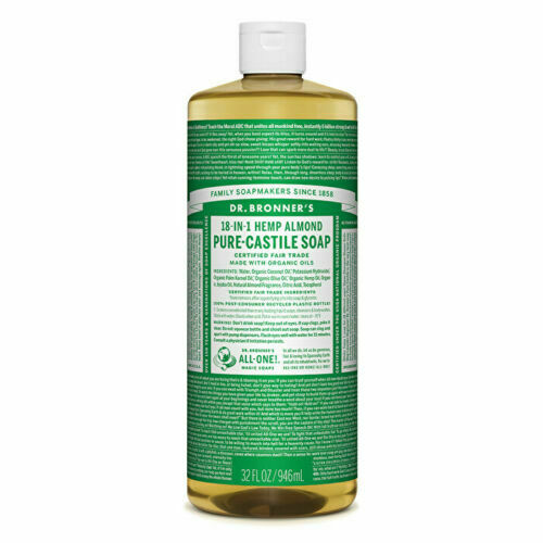 Dr. Bronner's Pure-Castile Soap Liquid (Hemp 18-in-1) Almond 946ml