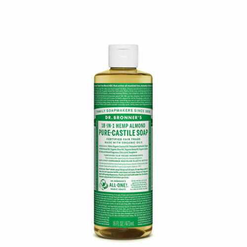 Dr. Bronner's Pure-Castile Soap Liquid (Hemp 18-in-1) Almond 473ml