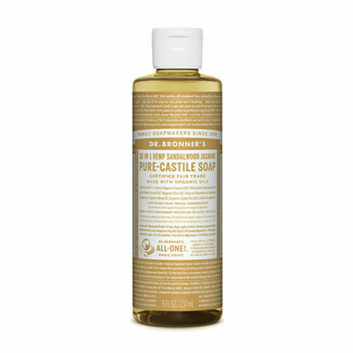 Dr. Bronner's Pure-Castile Soap Liquid (Hemp 18-in-1) Sandalwood Jasmine 237ml