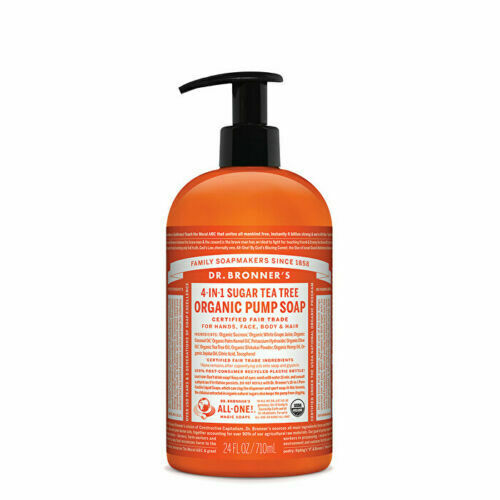 Dr. Bronner's Organic Pump Soap (Sugar 4-in-1) Tea Tree 710ml