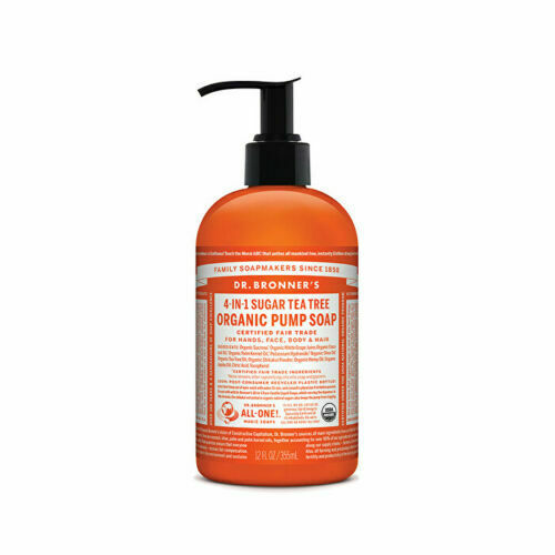 Dr. Bronner's Organic Pump Soap (Sugar 4-in-1) Tea Tree 355ml